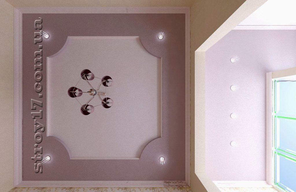 Чертеж потолка детской спальни фото