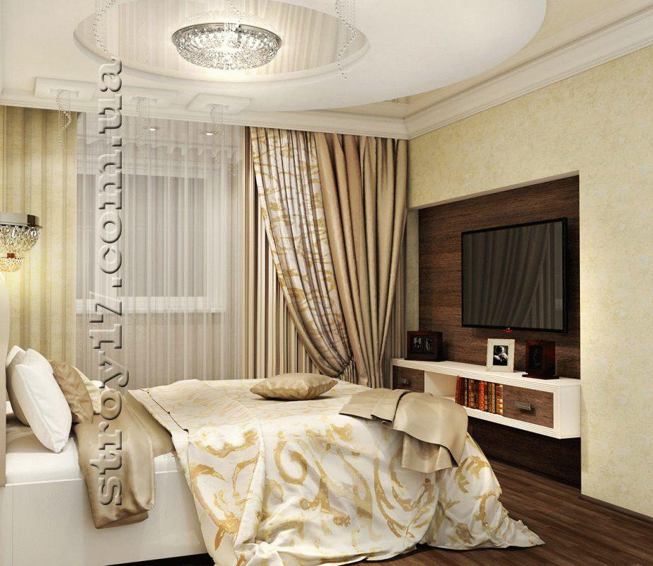 Визуализация потолка взрослой спальни фото