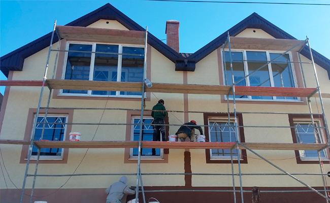 Фасадные работы в Харькове под ключ фото
