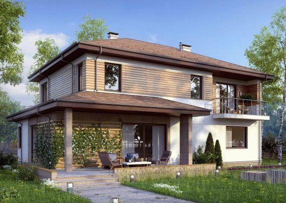 Строительство частного дома из газоблоков по проекту «Престиж»