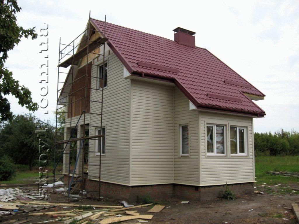 Фотография двухэтажного каркасного дома