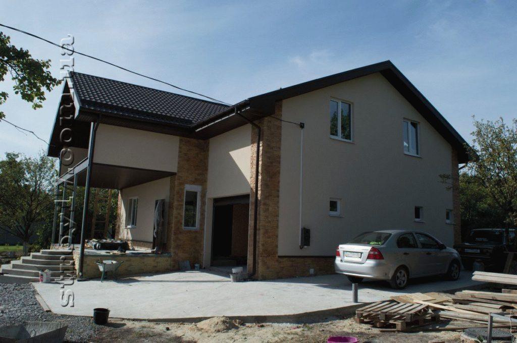 Каркасный дом по проекту Z197 фото
