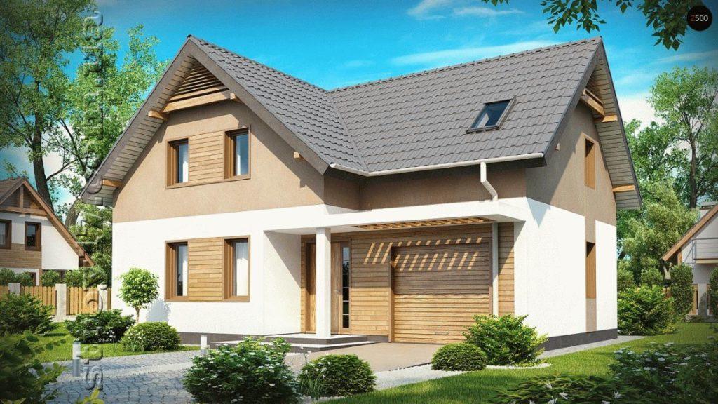 Каркасный дом с мансардой фото