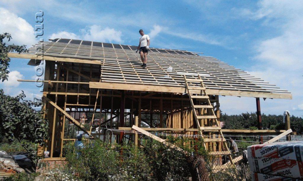 Строительство двухэтажного каркасного дома фото