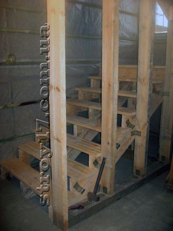 Лестница дачного дома Водобуд фото 1