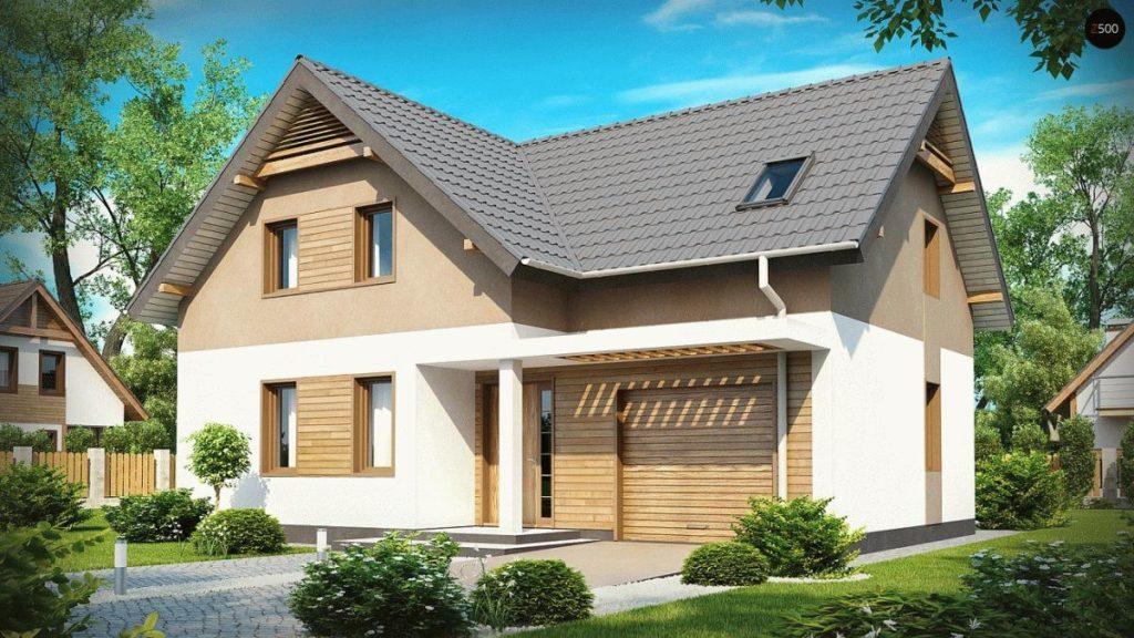 Строительство каркасного дома по проекту Z197 фото 1