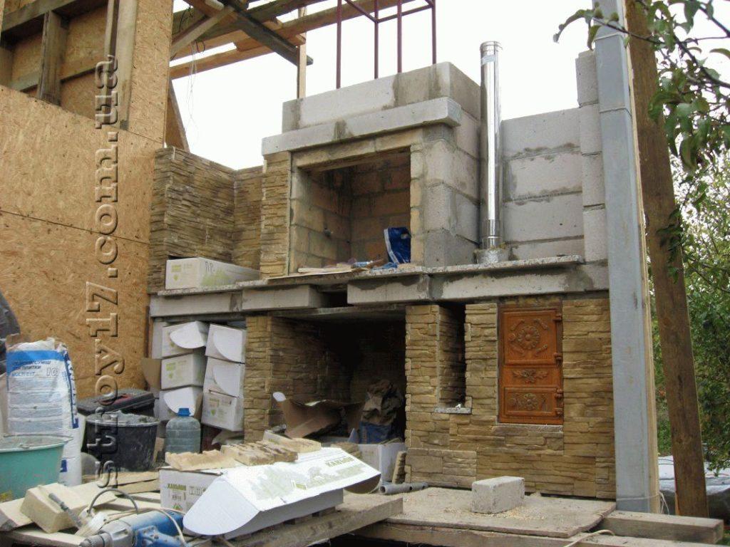 Строительство камина фото 1
