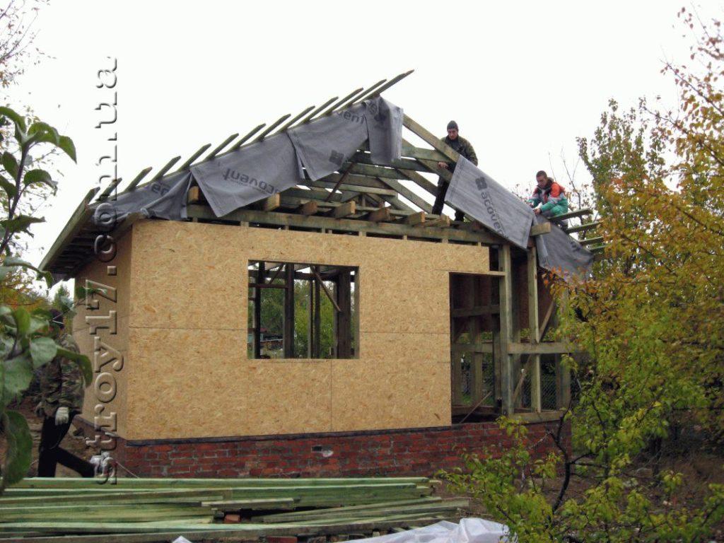 Строительство деревянной бани Водобуд фото 8
