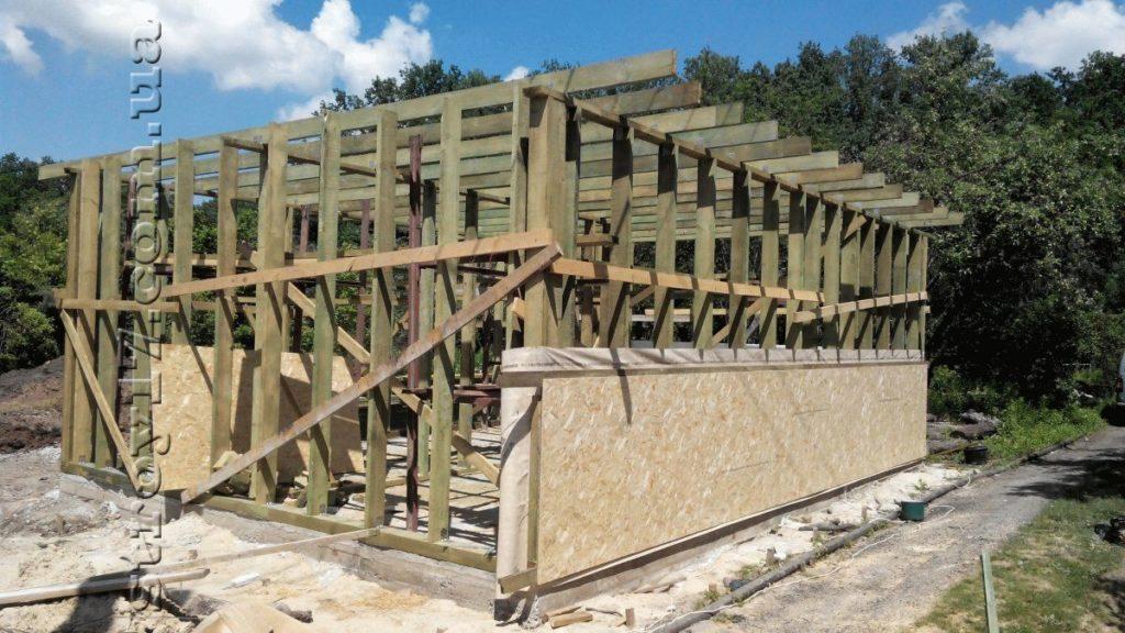 Строительство каркасной бани к проекту Комфорт фото 1