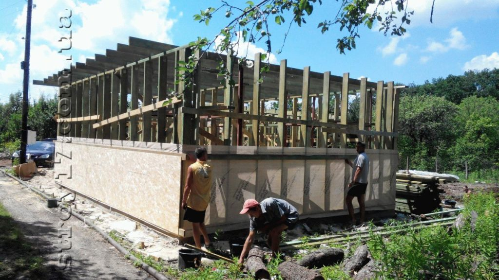 Строительство каркасной бани к проекту Комфорт фото 2