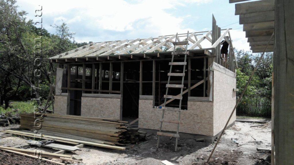 Строительство каркасной бани к проекту Комфорт фото 3