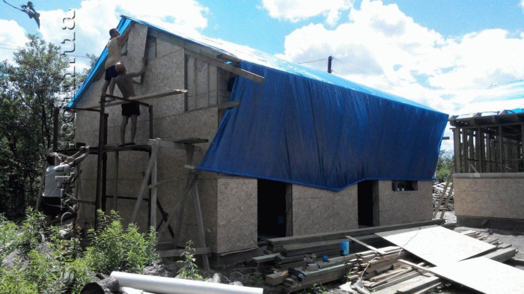 Строительство каркасной бани к проекту Комфорт фото 4
