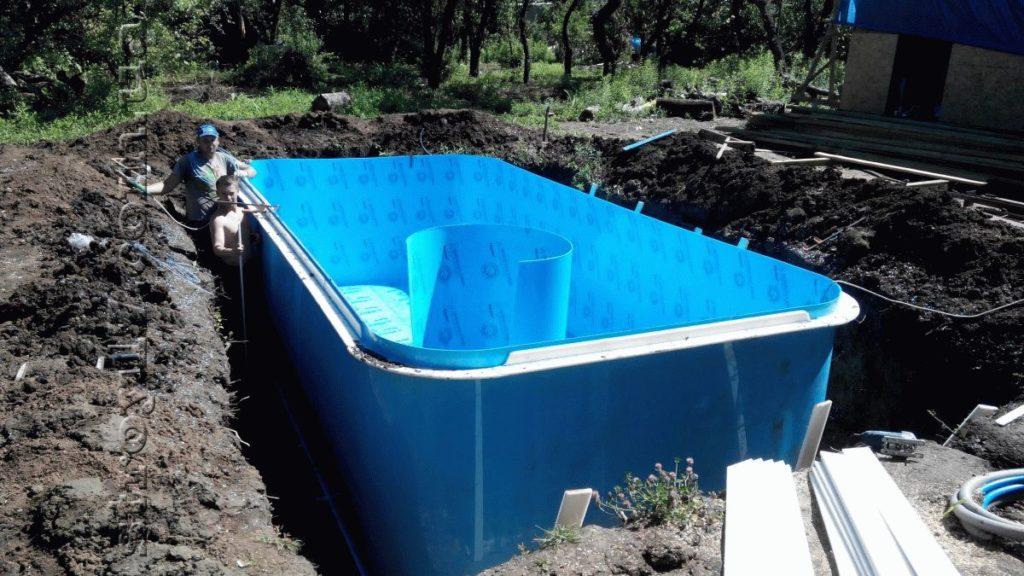 Бассейн с подогревом по проекту