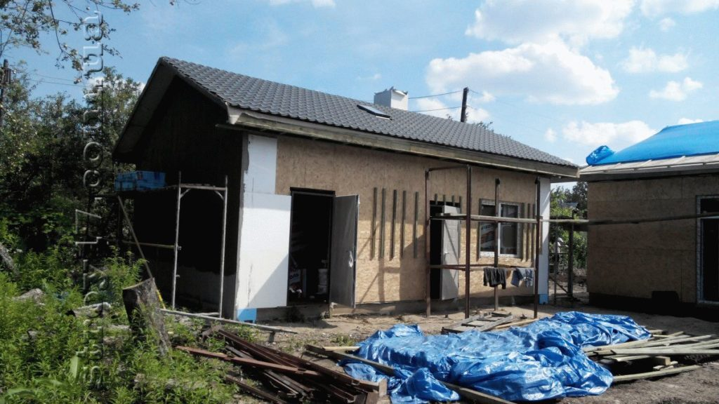 Строительство каркасной бани к проекту Комфорт фото 5
