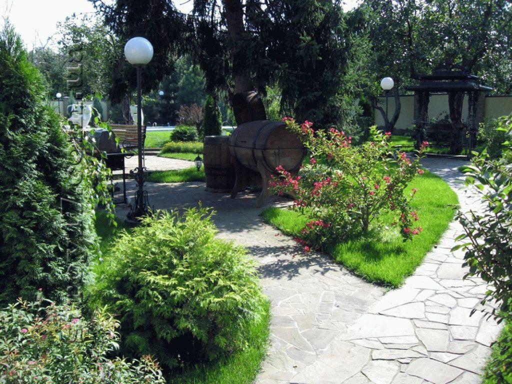 Благоустройство двора фото 4