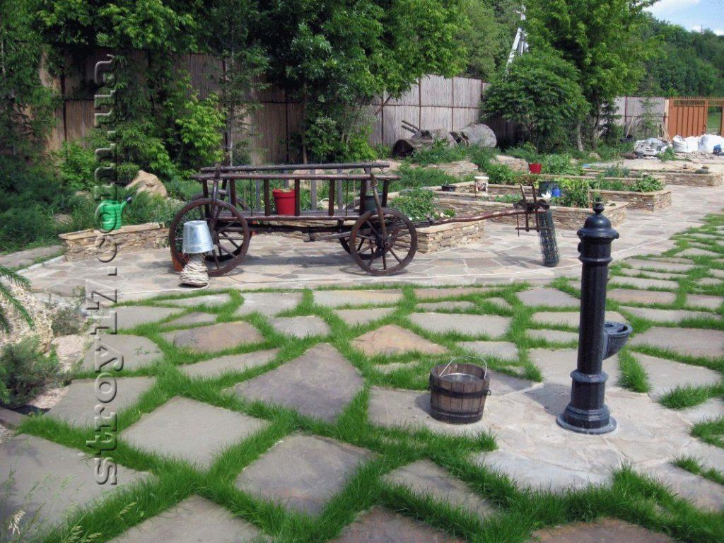 Благоустройство дворов фото