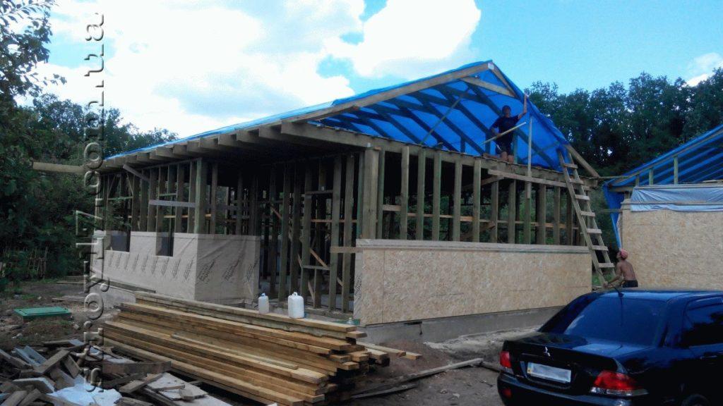 Строительство каркасного дома фото 11
