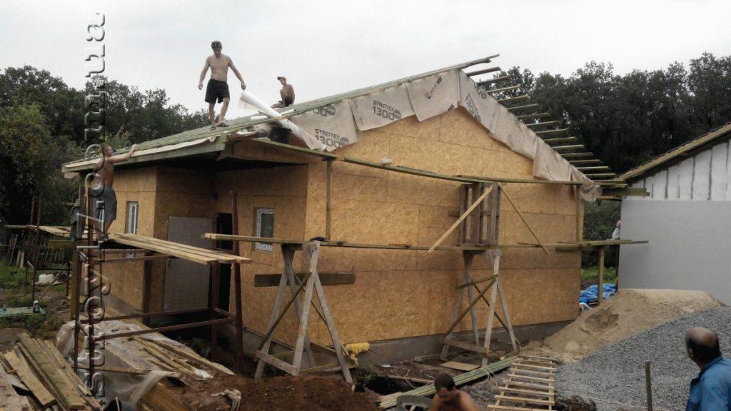 Строительство каркасного дома фото 13