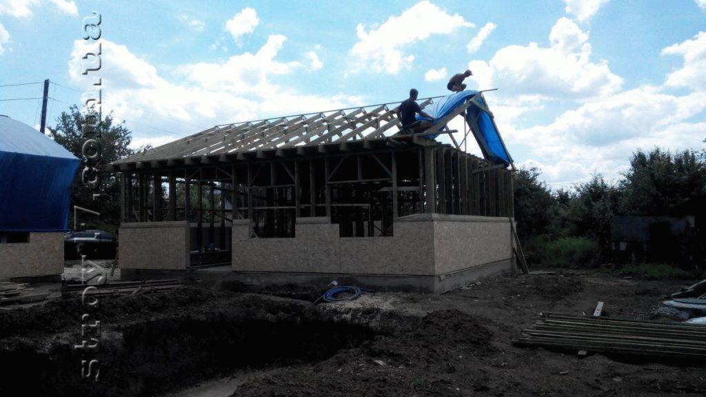 Строительство каркасного дома фото 10