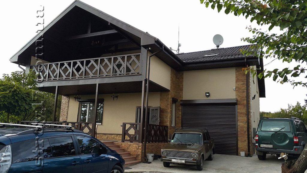 Фасад каркасного дома по проекту Z197 фото 1