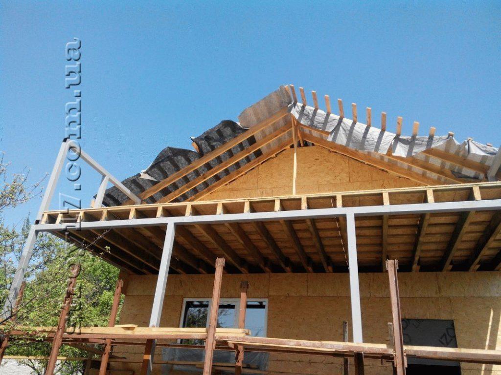 Строительство каркасного дома по проекту Z197 фото 12