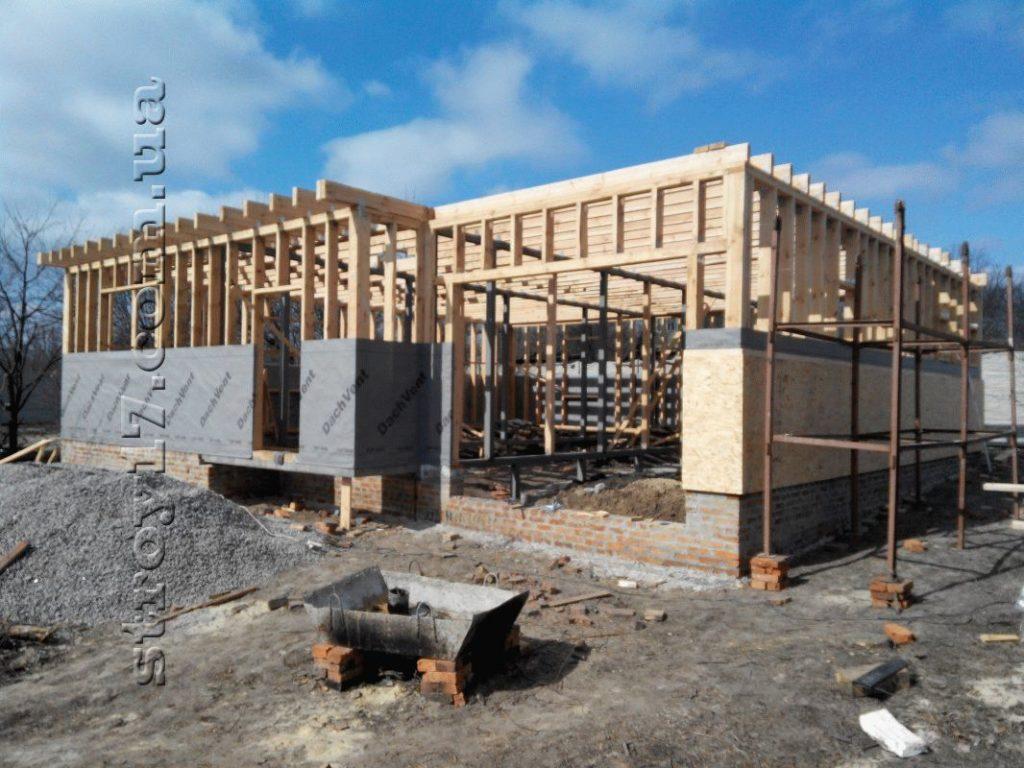 Строительство каркасного дома по проекту Z197 фото 23