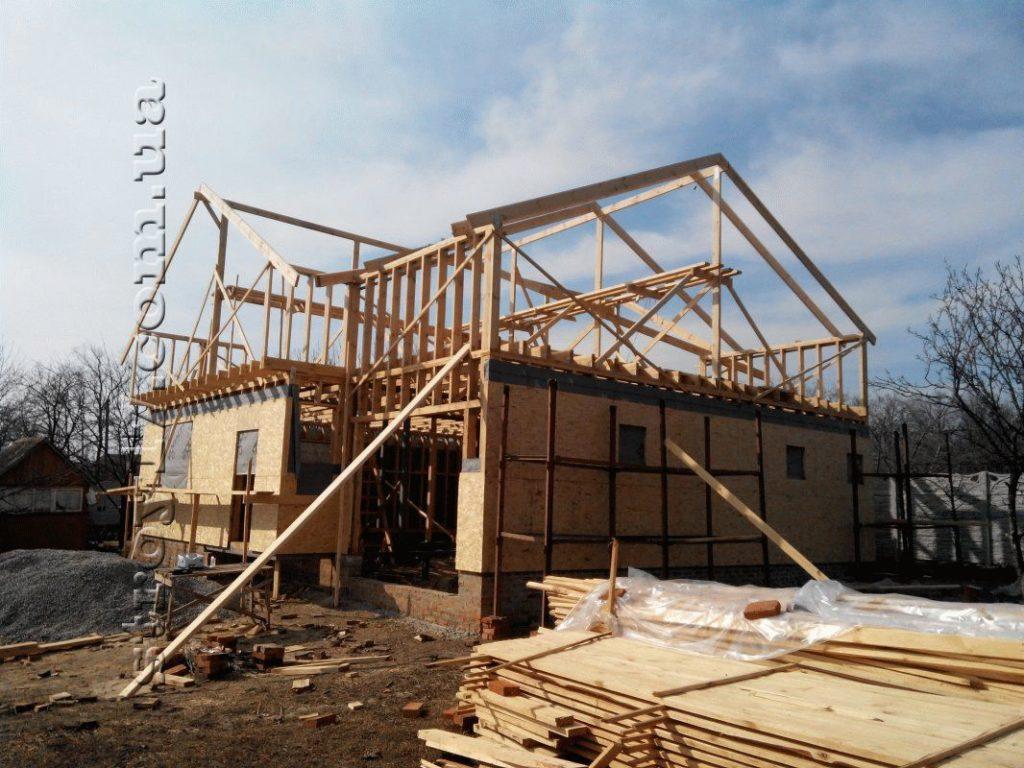 Строительство каркасного дома по проекту Z197 фото 21
