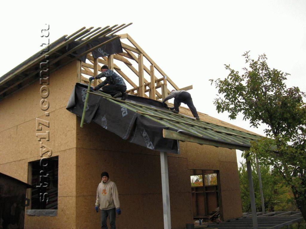Возведение крыши террасы Водобуд фото 1