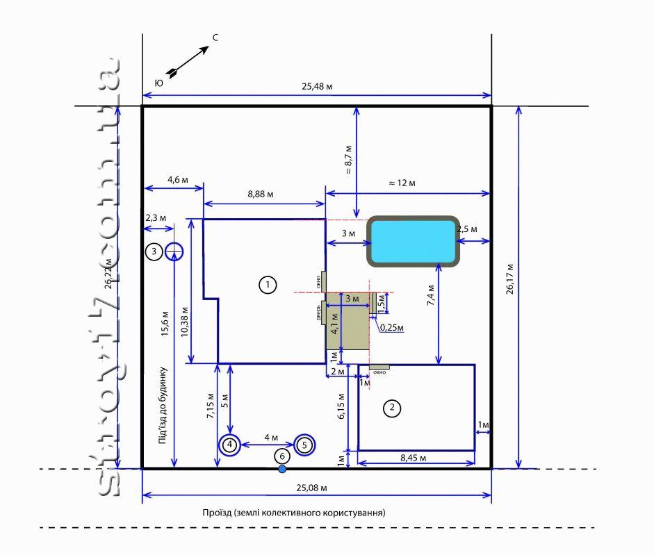 План каркасного дома по проекту