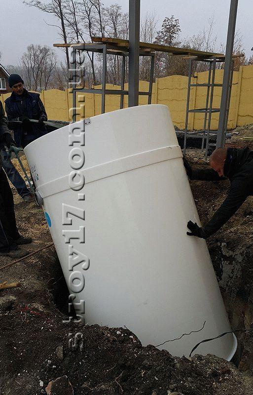 Монтаж автономной канализации по проекту Водобуд-2 фото