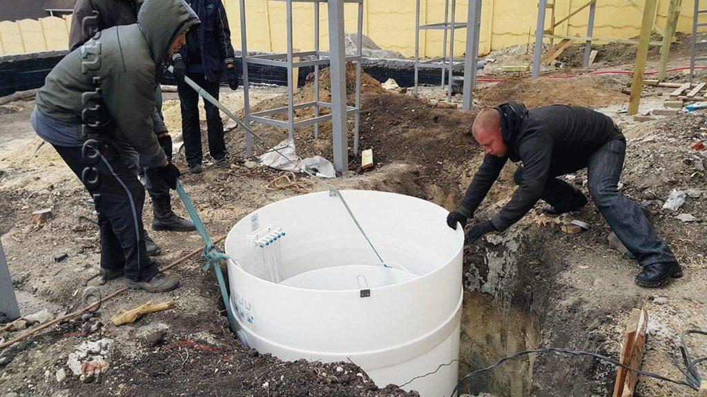 Монтаж автономной канализации акватек по проекту Водобуд-2 фото