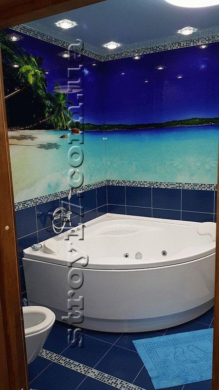 Отделка ванной комнаты по проекту Z197 фото