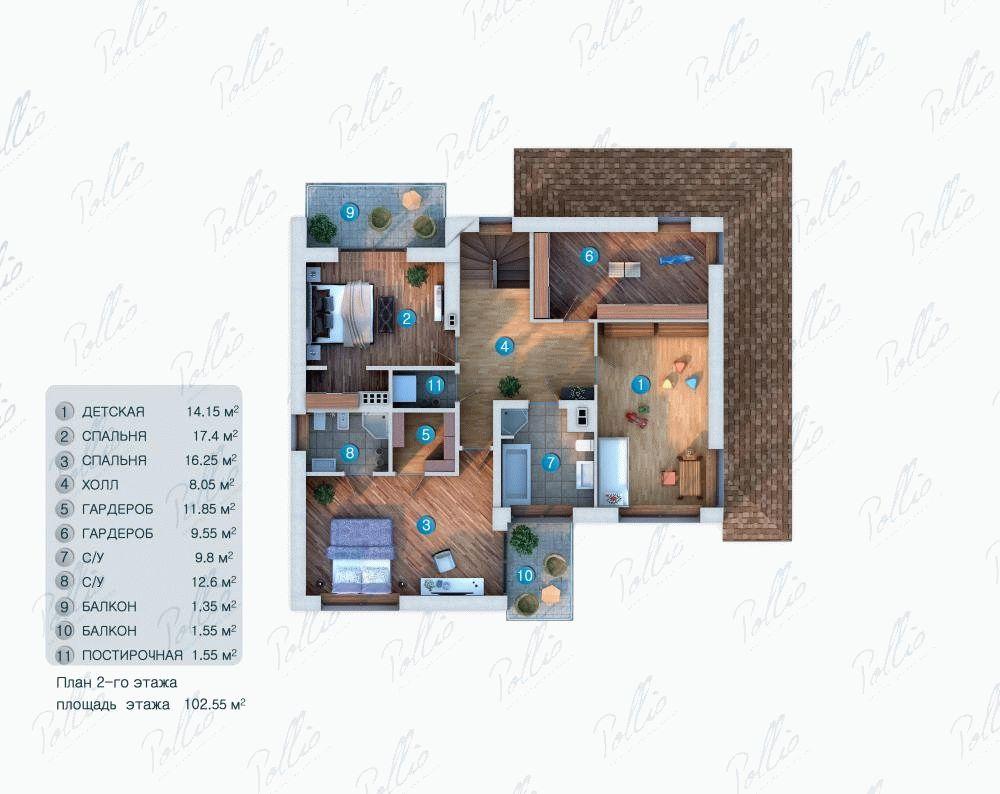 План 2-го этажа фото