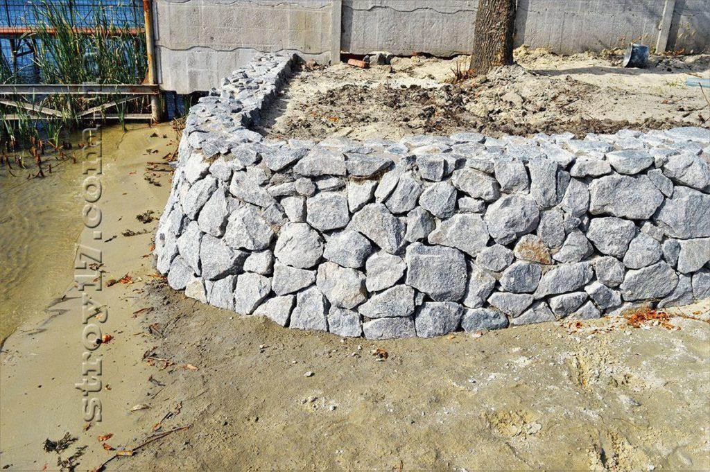 Подпорная стенка береговой линии по проекту Водобуд-2 фото