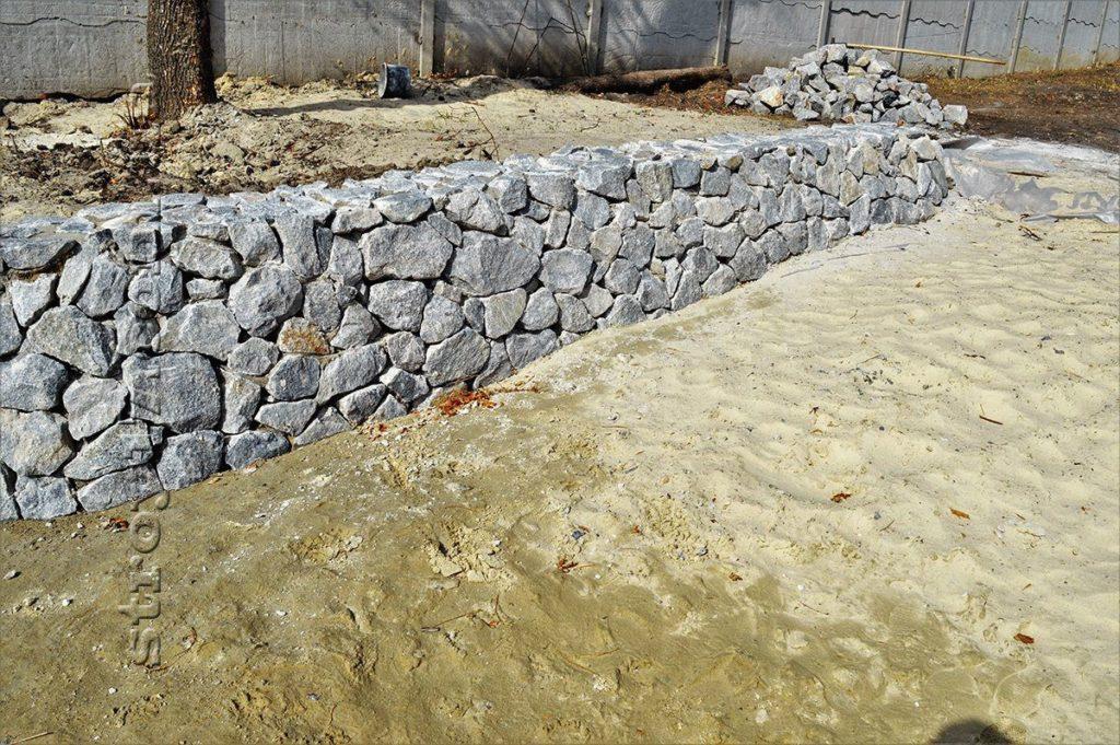 Подпорная стенка береговой линии 2 по проекту Водобуд-2 фото