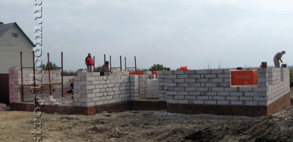 Строительство частного дома из газоблоков фото 11