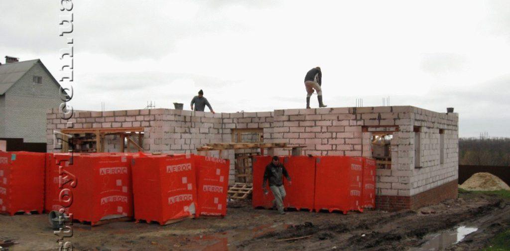 Строительство частного дома из газоблоков фото 12