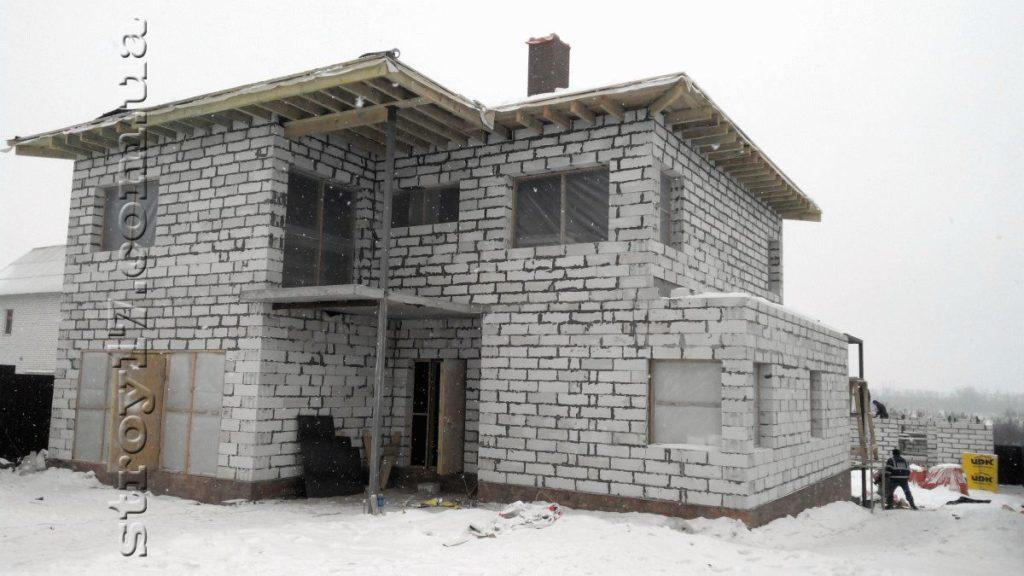 Частный дом из газоблоков фото 7