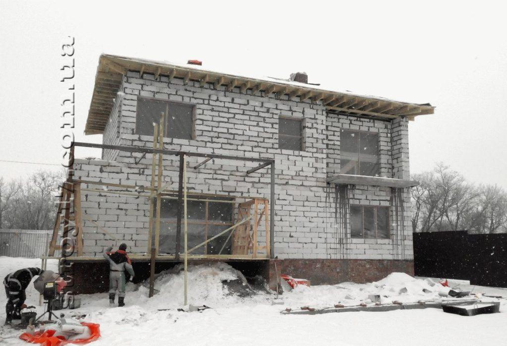 Частный дом из газоблоков фото 8