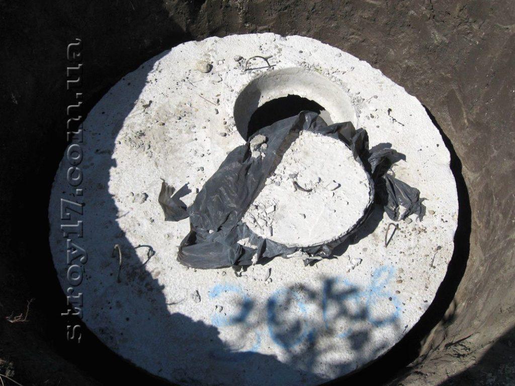 Монтаж бетонной крышки фото