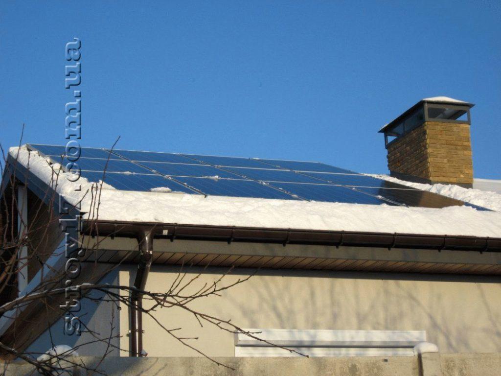 Установка солнечных батарей фото 1