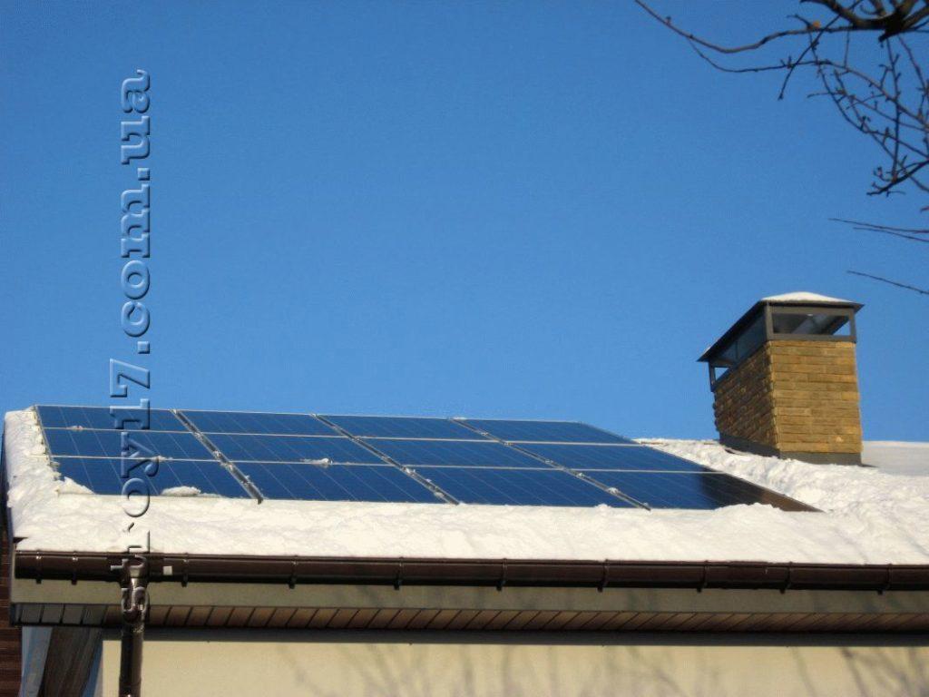 Установка солнечных батарей с инвертором фото 1