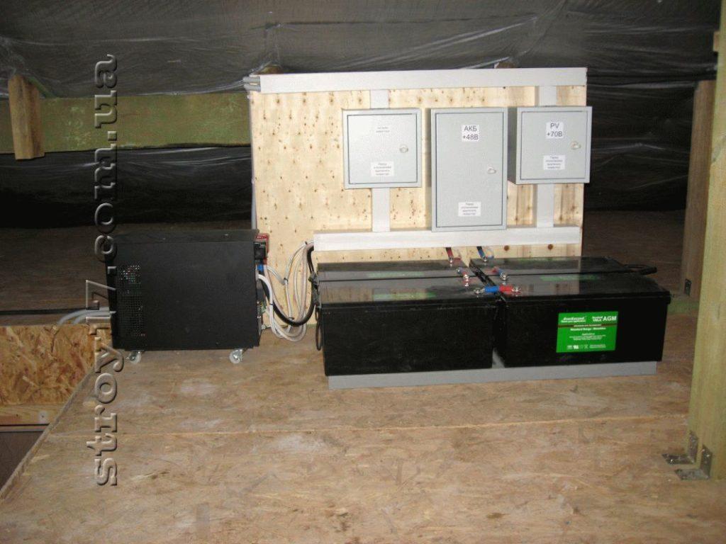 Установка солнечных батарей с инвертором фото 2
