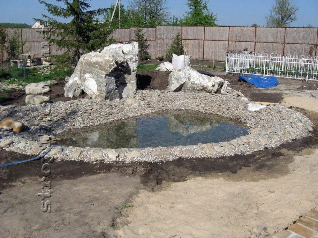 Декоративный пруд фото 4