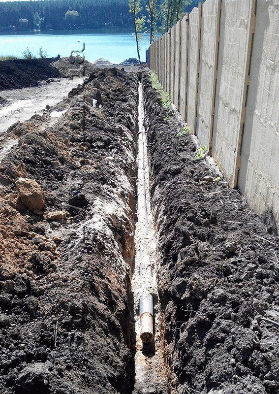 Устройство системы канализации по проекту Водобуд-2 фото