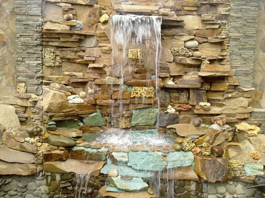 водопад стена своими руками фото своего