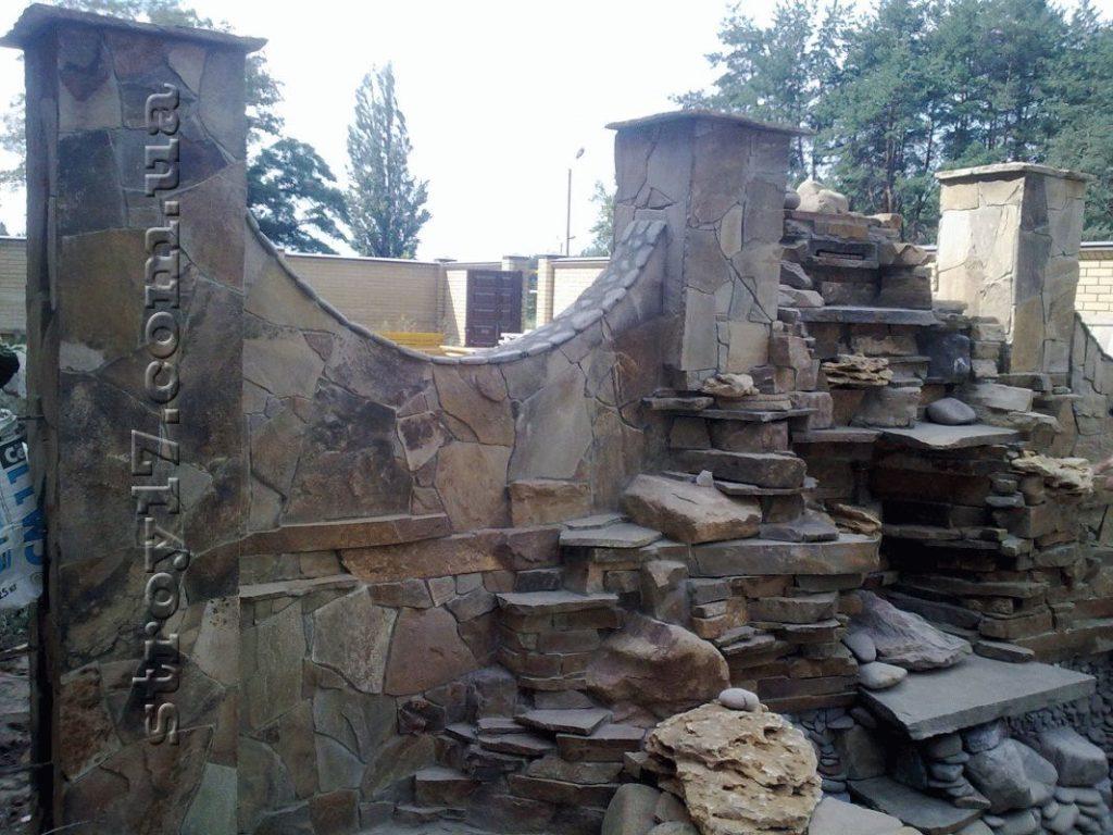 Сооружение каскадных водопадов фото 2