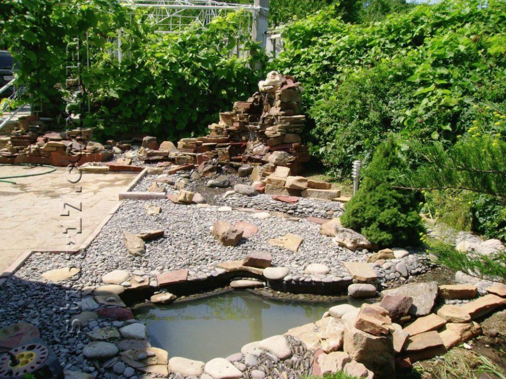 Сооружение каскадных водопадов фото 4