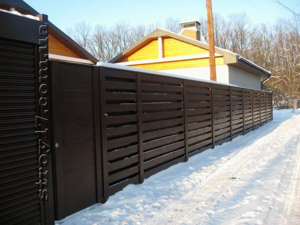 Забор частного дома фото 1