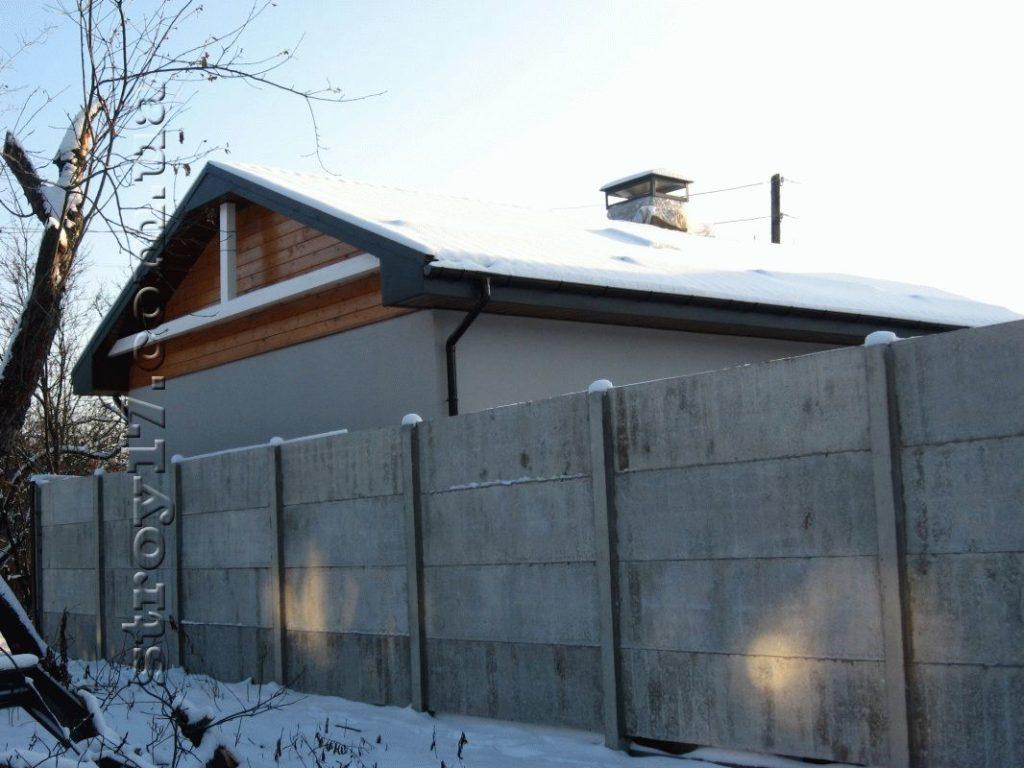 Забор частного дома фото 2